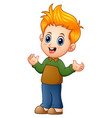 cute little boy cartoon vector image