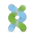 dna structure in 3d vector image vector image