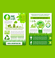 Earth day infographics green energy concept