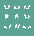 easter bunny cartoon ears celebration mask vector image
