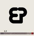 EP logo monogram vector image vector image