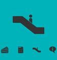 escalator icon flat vector image vector image