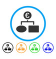 euro flow chart rounded icon vector image vector image