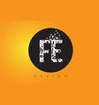 fe f e logo made of small letters with black vector image