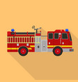 fire fighter truck icon flat style vector image