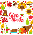 give thanks concept with lettering vector image
