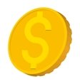 Gold coin with Dollar sign icon cartoon style vector image vector image