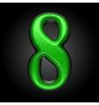 green plastic figure 8 vector image