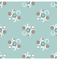 Grunge circles on a light greenish blue background vector image vector image
