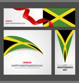 happy jamaica independence day banner and vector image