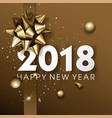 happy new year 2018 greeting card or poster vector image vector image