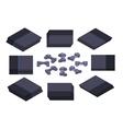 Isometric black nextgen gaming console vector image