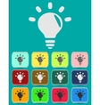 Light lamp sign icon Idea symbol Light is on vector image vector image