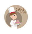 man cooking chief cartoon character logo vector image