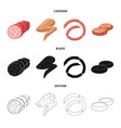 meat and ham icon vector image vector image