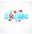 merry christmas greeting lettering made from ice vector image vector image