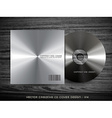metal cd cover vector image vector image