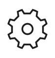 Metallic Gear vector image vector image