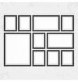 Modern black frames set vector image vector image