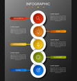 modern infographics fashion of five options vector image vector image