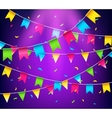 Multicolored bright buntings garlands Party flags