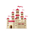 old magical castle on white vector image