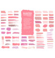 painted grunge stripes set red and pink labels vector image vector image