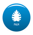palm leaf icon blue vector image vector image