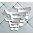 Paper shopping bags isolated on white collection vector image