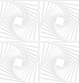 Paper white squares with inside swirling vector image vector image