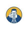 Photographer With Camera Retro vector image vector image