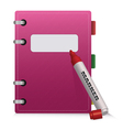 Pink Diary vector image vector image