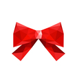 red origami bow isolated on white background vector image