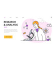 research and analysis abstract concept vector image vector image