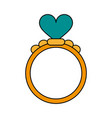 ring heart flat vector image