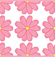 seamless pattern tile cartoon with flowers vector image