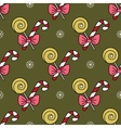 seamless pattern with Christmas candy canes vector image vector image