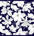 seamless pattern with magnolia flowers and leaves vector image vector image