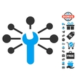 Service Wrench Relations Icon With Free Bonus vector image vector image