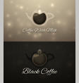 set horizontal coffee banners vector image