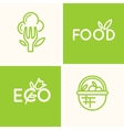 Set logo food and natural product vector image