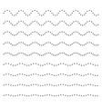 set wavy horizontal dots lines design element vector image vector image