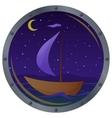 ship floats at night vector image vector image