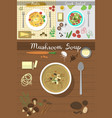 soup plate dishes on table top view vector image
