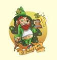 st patricks day shamrock clover mascot vector image vector image