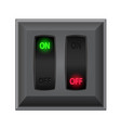 switches in on and off vector image vector image