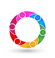 Teamwork business network logo vector image vector image