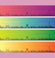 tehran multiple color gradient skyline banner vector image vector image