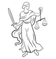 themis or justice - goddess order fairness vector image
