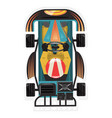 top view kart racer isolated icon vector image vector image